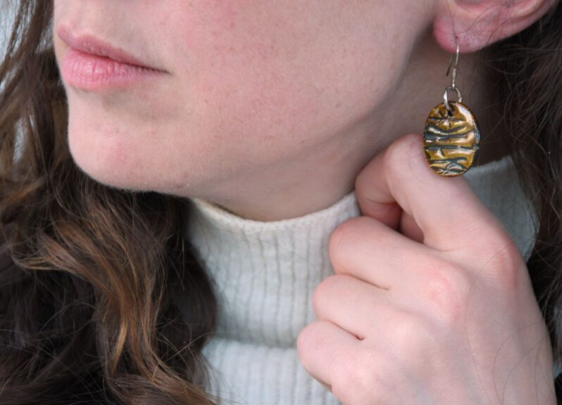 Runic Earrings by Andrew Appleby at Amulet of Orkney