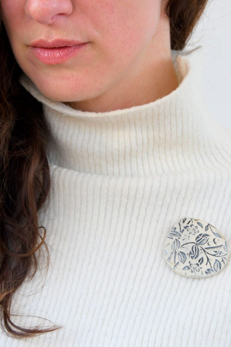 William Morris brooch by Amulet of Orkney handmade jewellery