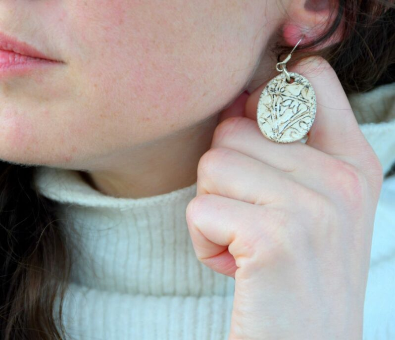 Scottish Thistle earrings by Amulet of Orkney handmade jewellery